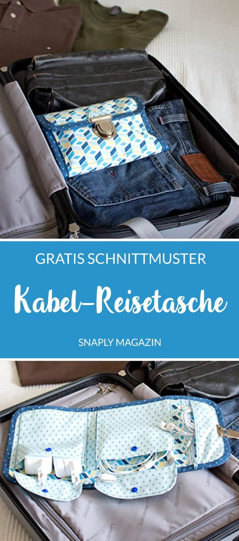 Gratis Schnittmuster & Anleitung: Kabel-Reisetasche nähen | Snaply-Magazin #gratismønster