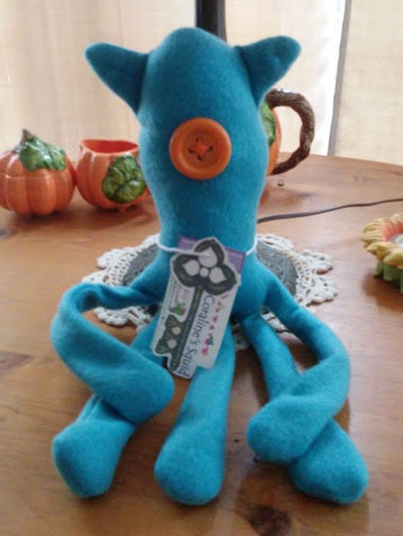 Coraline Movie Squid Plush 17 Inches One Collectible Aqua Cute