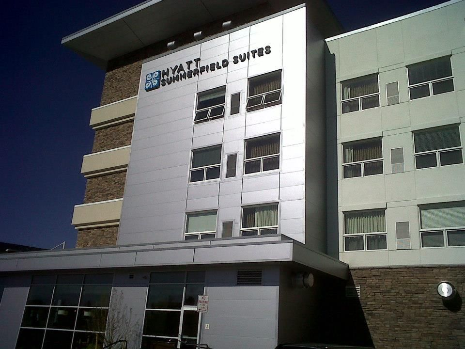The Hyatt Summerfield Suites in Bloomfield, Colo., utilize MBCI's Eco-ficient Grand H insulated metal panels. This hotel was designed by Cubellis Associates and installed by Shaw Construction.   www.mbci.com