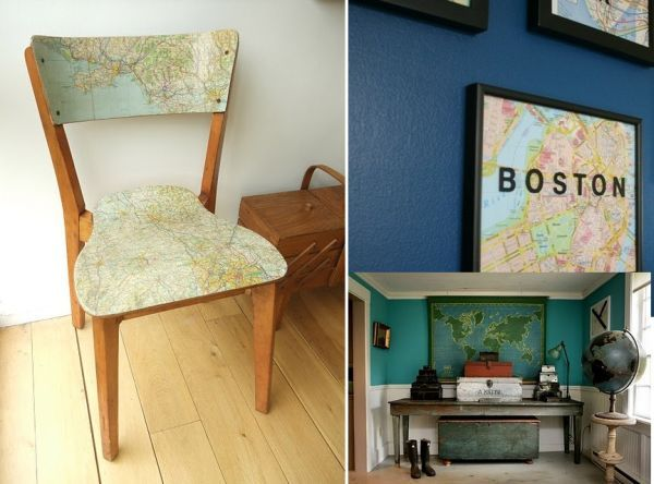 Great 8 Unique And Fun Ways To Decorate With Maps Design Ideas