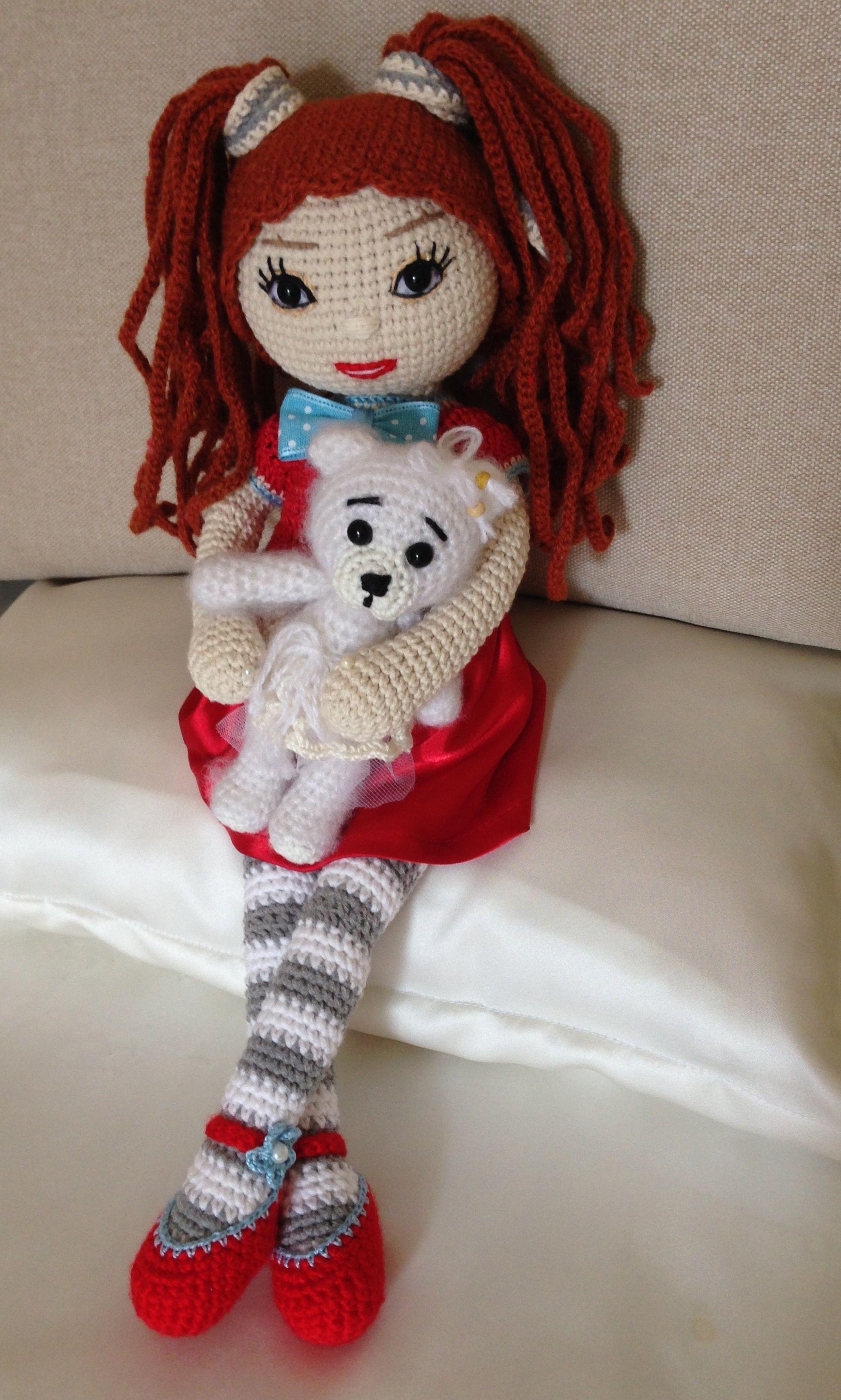 Compre Bonecas Amigurumi Crochet Meninas Chocalho Boneca De ... | 3264x1961