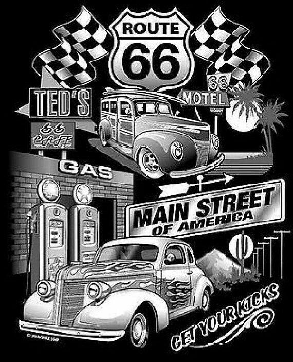 Pin by Virginia Vondohlen on old signs | Route 66, Rat rod