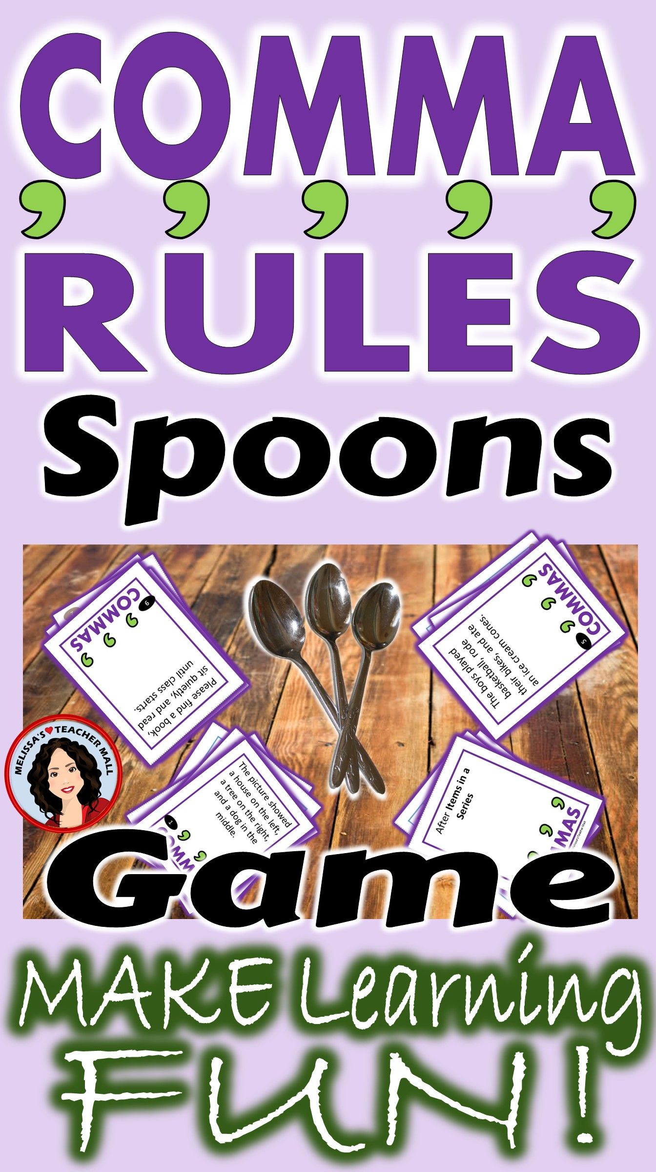 Comma Rules Spoons Game 3 Games Included