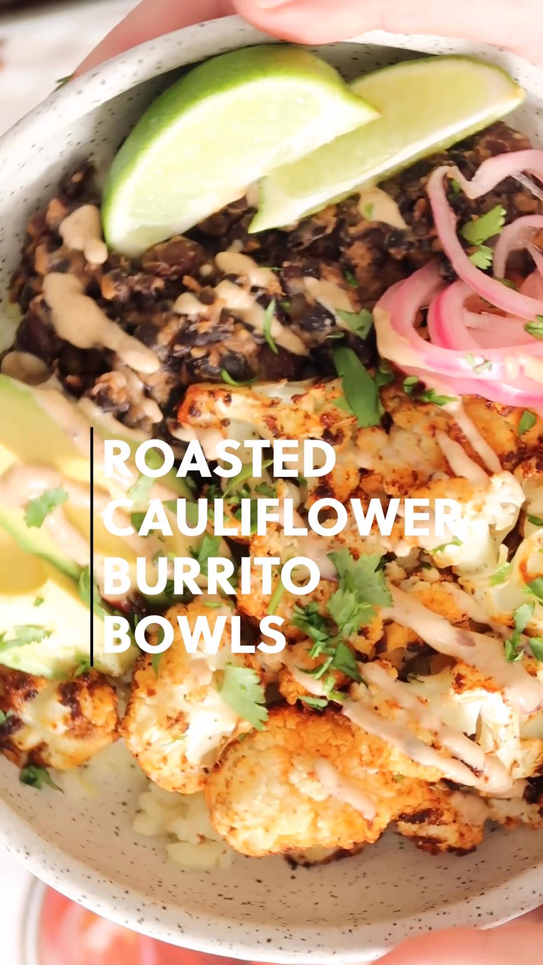 Roasted Cauliflower Burrito Bowls