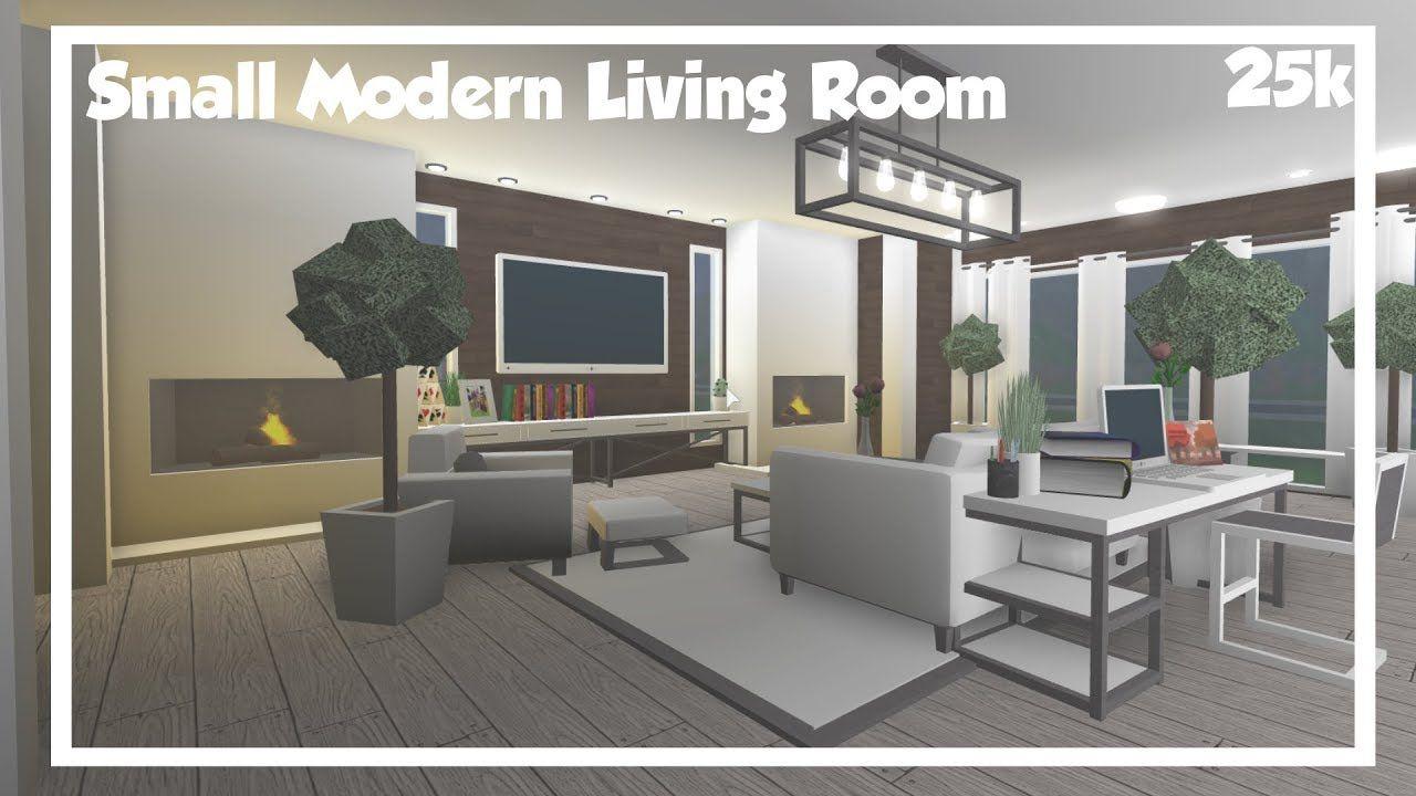 Bloxburg Small Modern Living Room Speedbuild. Living