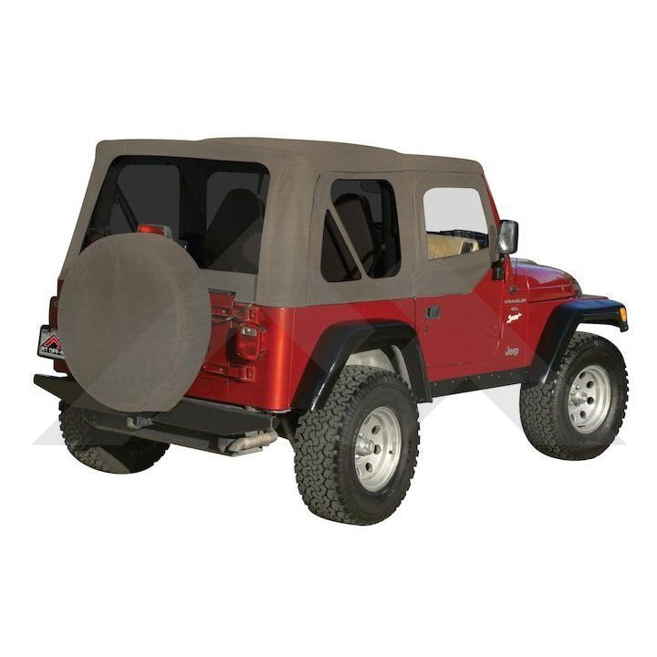 Complete Soft Top Khaki Diamond Tinted Windows Jeep Wrangler