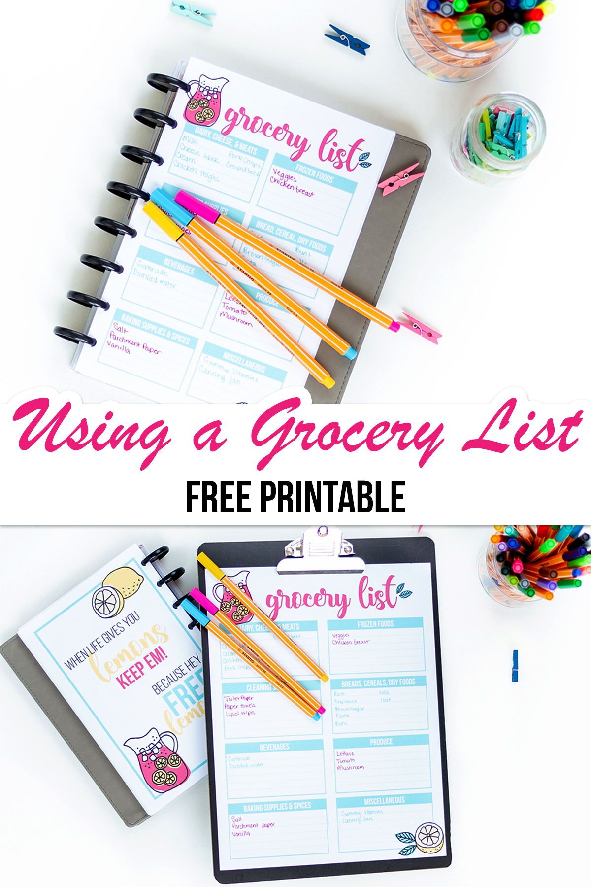 Using A Grocery List Template I Heart Planners Grocery List Template List Template Grocery Lists