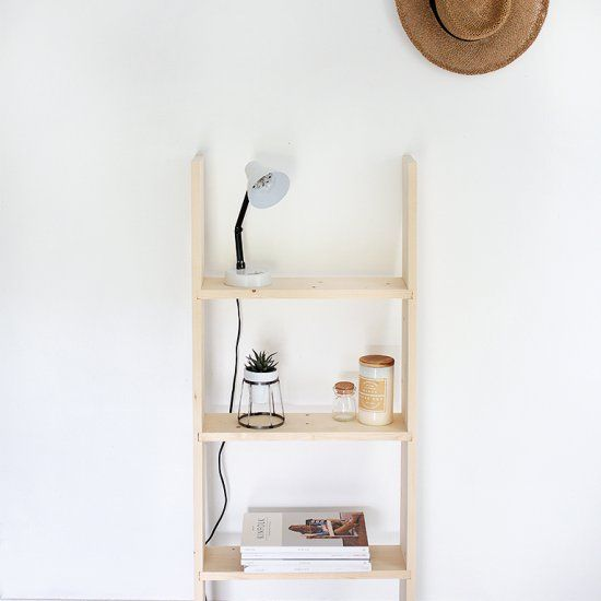 A simple and minimal DIY Ladder Shelf - perfect for sprucing up your space!