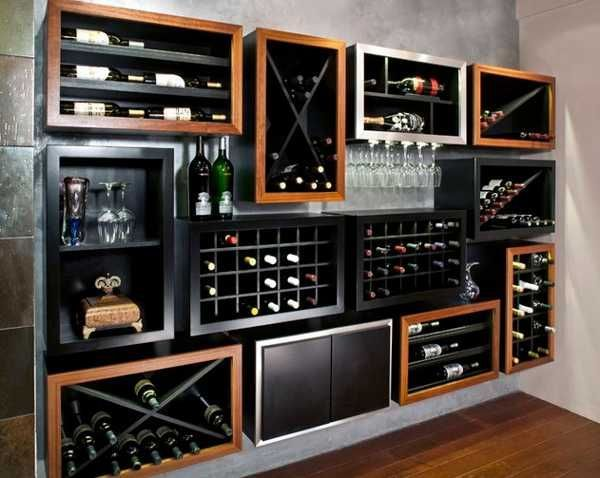 Bodegas Integradas En El Comedor Decoración De Bar De Casa Bar Moderno Minibares En Casa