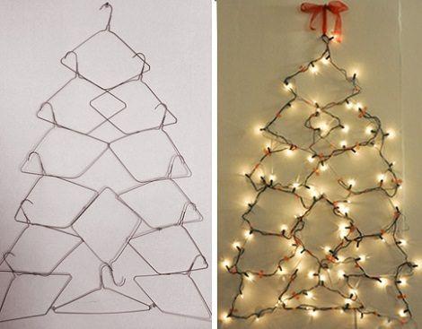perchas con forma de rbol de navidad