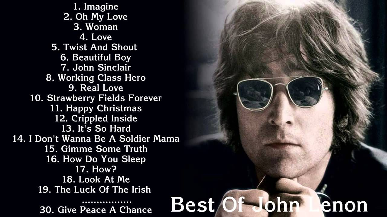 JOHN LENNON - Best songs of John Lennon - John Lennon Greatest hits ...