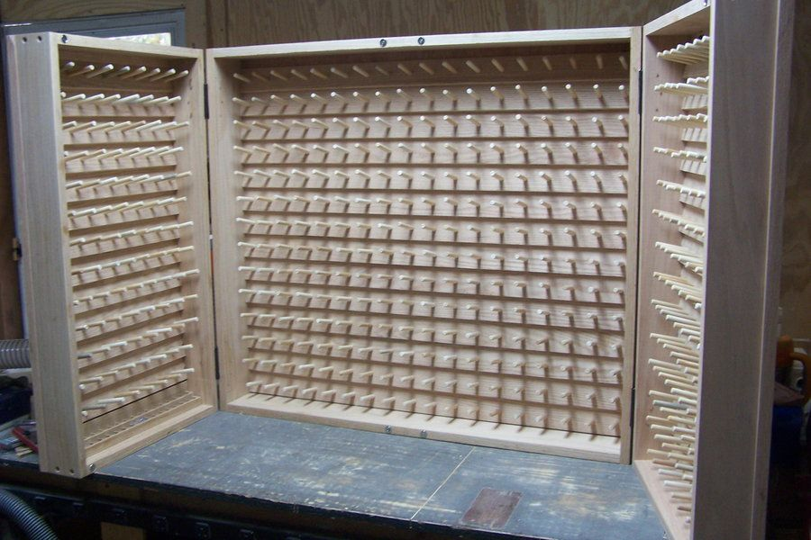 Embroidery Thread Cabinet - by ldl @ LumberJocks.com ~ woodworking ...