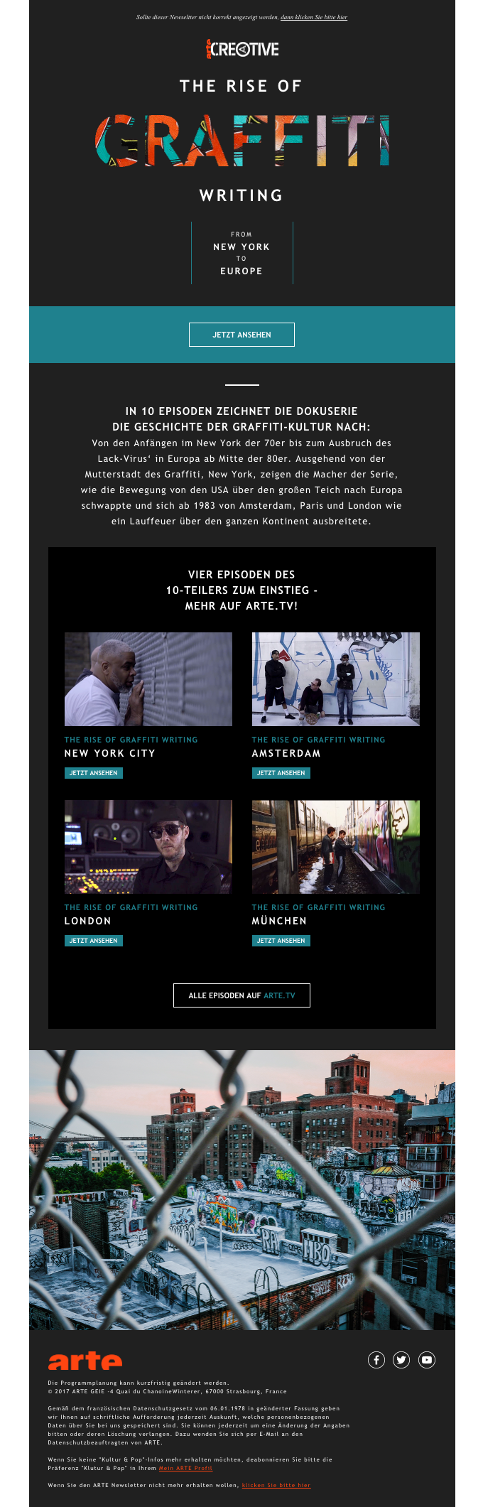Arte Tv Newsletter The Best Email Designs In The Universe That Came Into My Inbox