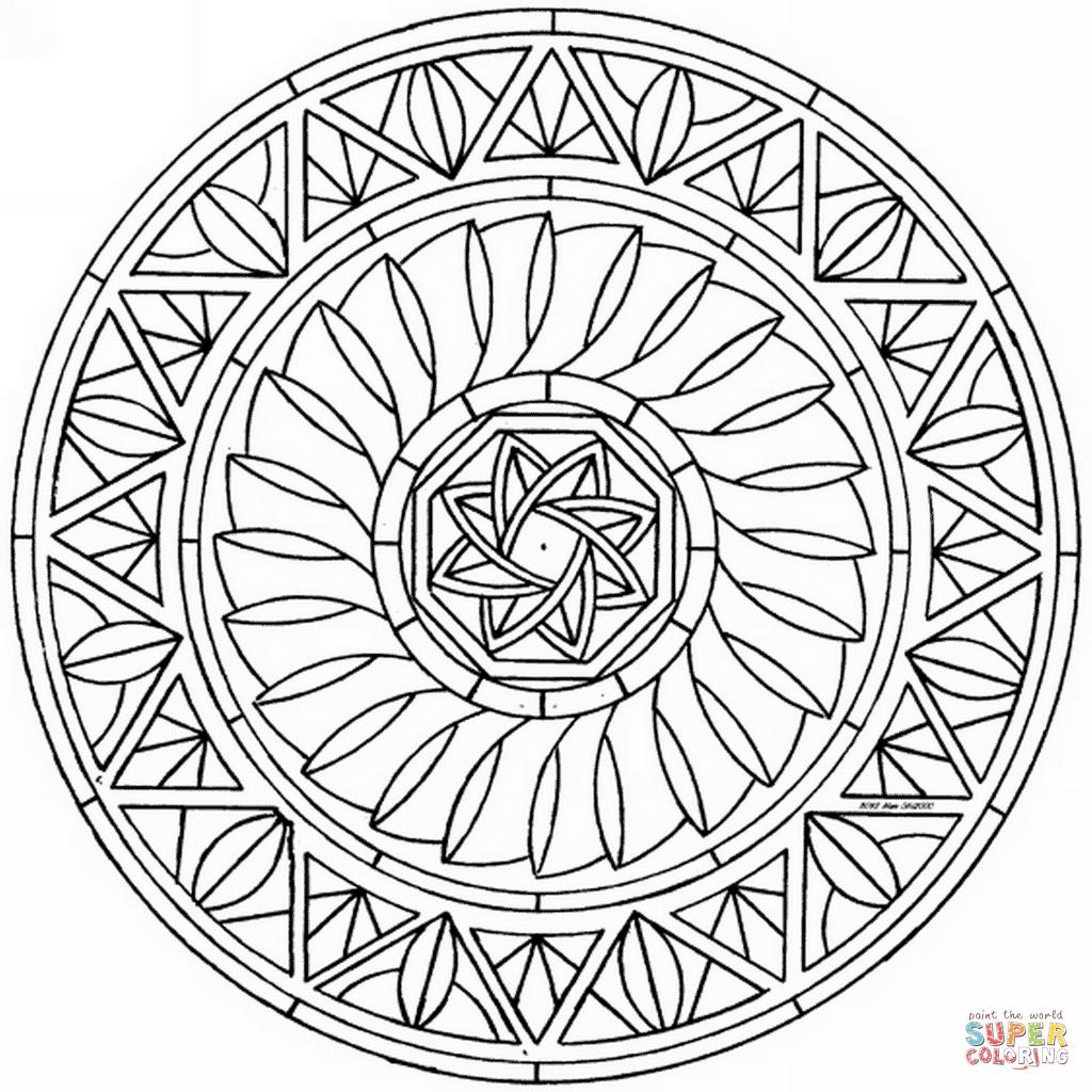 Abstrakt Mandala Tegninger