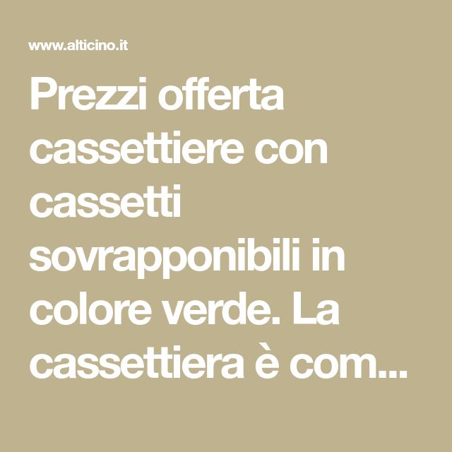 Cassettiere Metalliche Per Officina Prezzi.Prezzi Offerta Cassettiere Con Cassetti Sovrapponibili In Colore