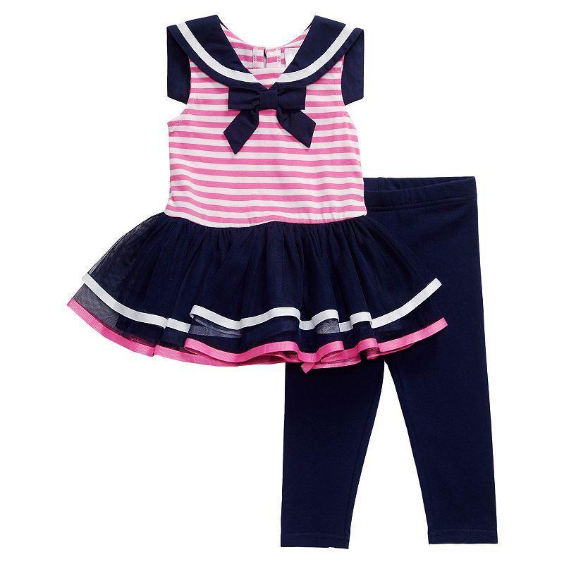 4d60bfe00378 Baby Girl Youngland Striped Sailor TuTu Dress & Leggings Set, Size: 0-3  Months, Pink. Girls 4-6x ...