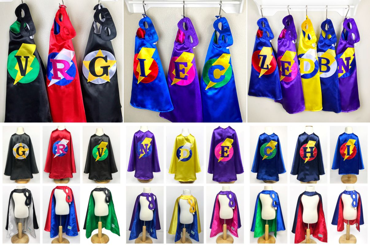 Kids Personalized Gift / Superhero Capes & Mask https://www