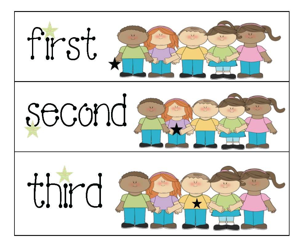 Free packet of ordinal numbers 110 the child holding the