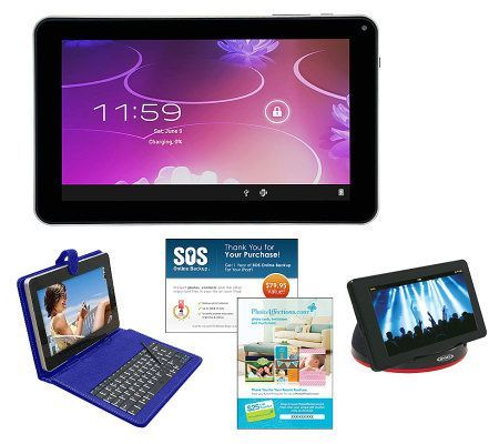 iView Large 9 Android Tablet Keyboard Case, Speaker
