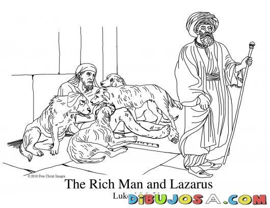 Pintar Dibujo De Lazaro Y El Rico Colorear Biblicos Dibujo Para