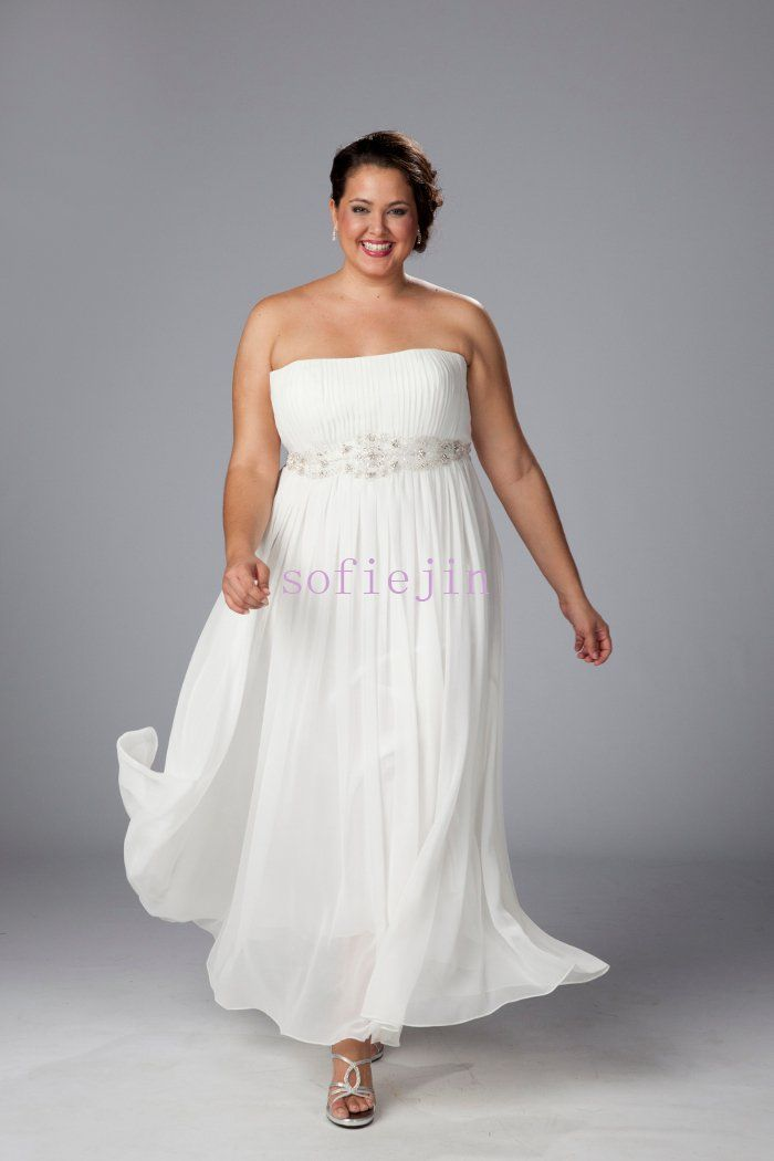 Plus Size Beach Wedding Attire | ... chiffon ankle length casual ...