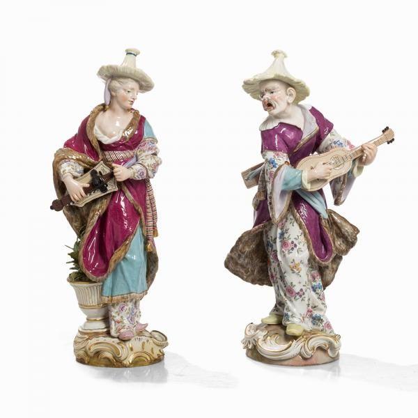 Lot : Friedrich Elias Meyer, A Pair of Malabars, Meissen, Late 19th C | Dans la vente Antiquités & Collections II à Auctionata AG