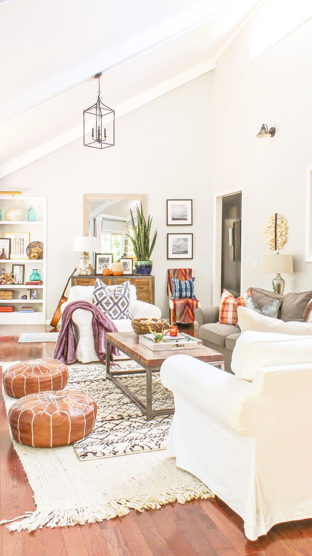 Boho chic fall home tour and decor tips fall decor inspiration