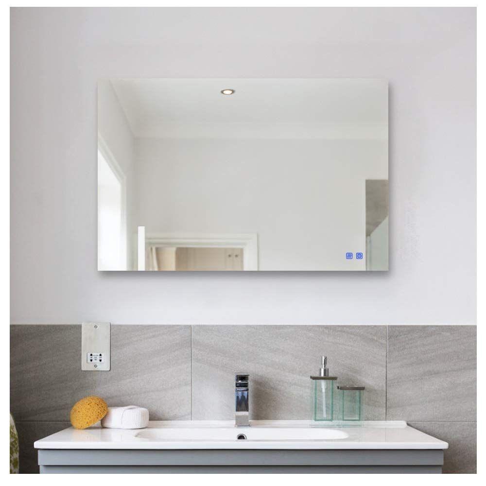 Rogsfn 36x28 Led Plug In Rectang Bathroom Vanity Mirror Mirror