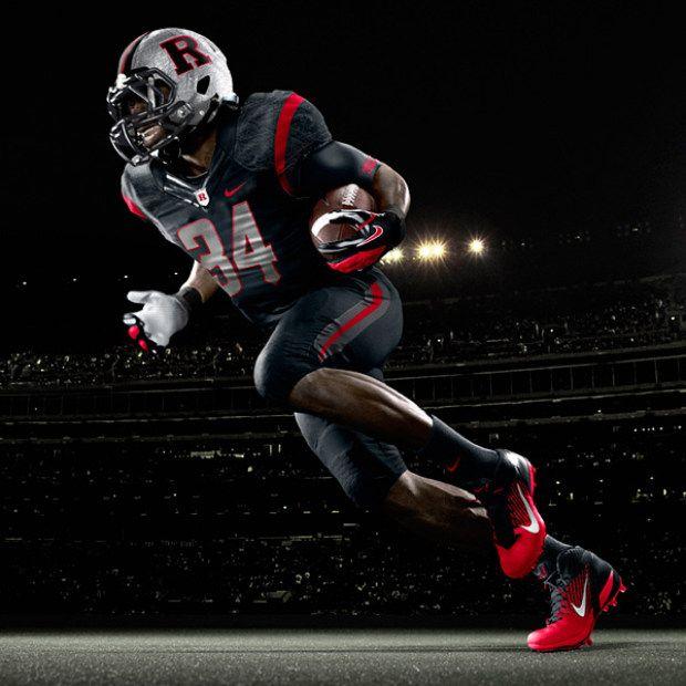 2012 Rutgers All Black Uniform College Football Uniforms Football Uniforms Rutgers Football