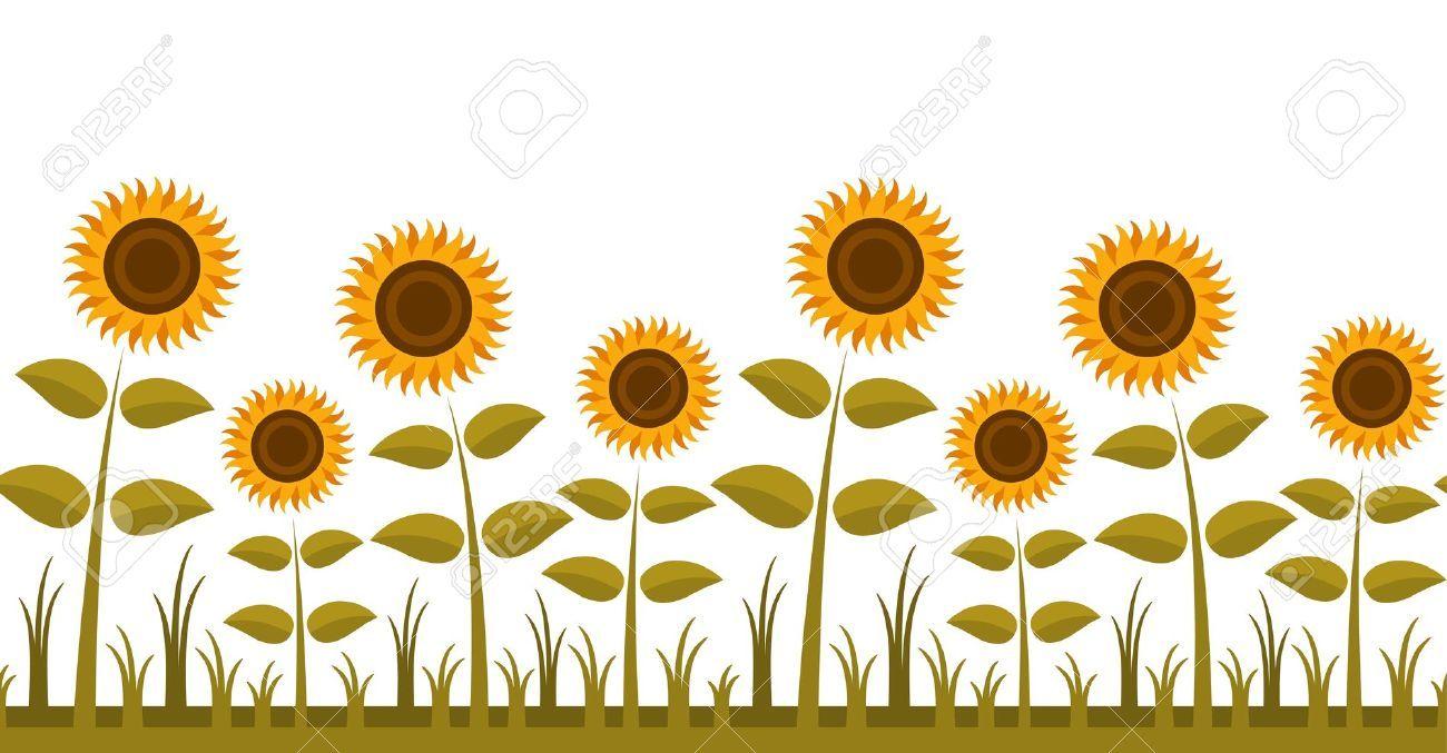 sunflowers clipart border clipartfest clip art pinterest rh pinterest com sunflowers clip art free sunflower clipart public domain