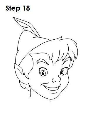 How to Draw Peter Pan | Disney drawings, Peter pan drawing, Drawings