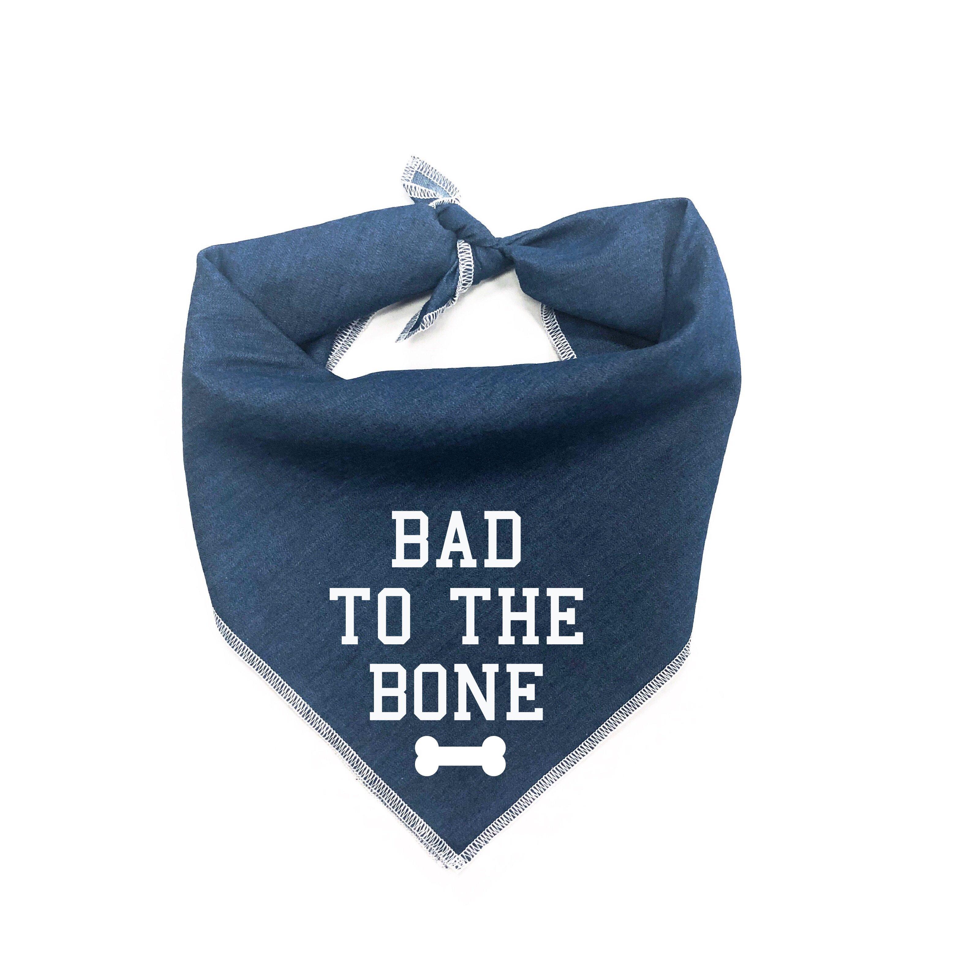 Bad to the Bone Dog Bandana