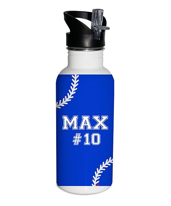 Blue Stitches Personalized 17-Oz. Water Bottle