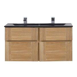 meuble salle de bain bois 120 cm