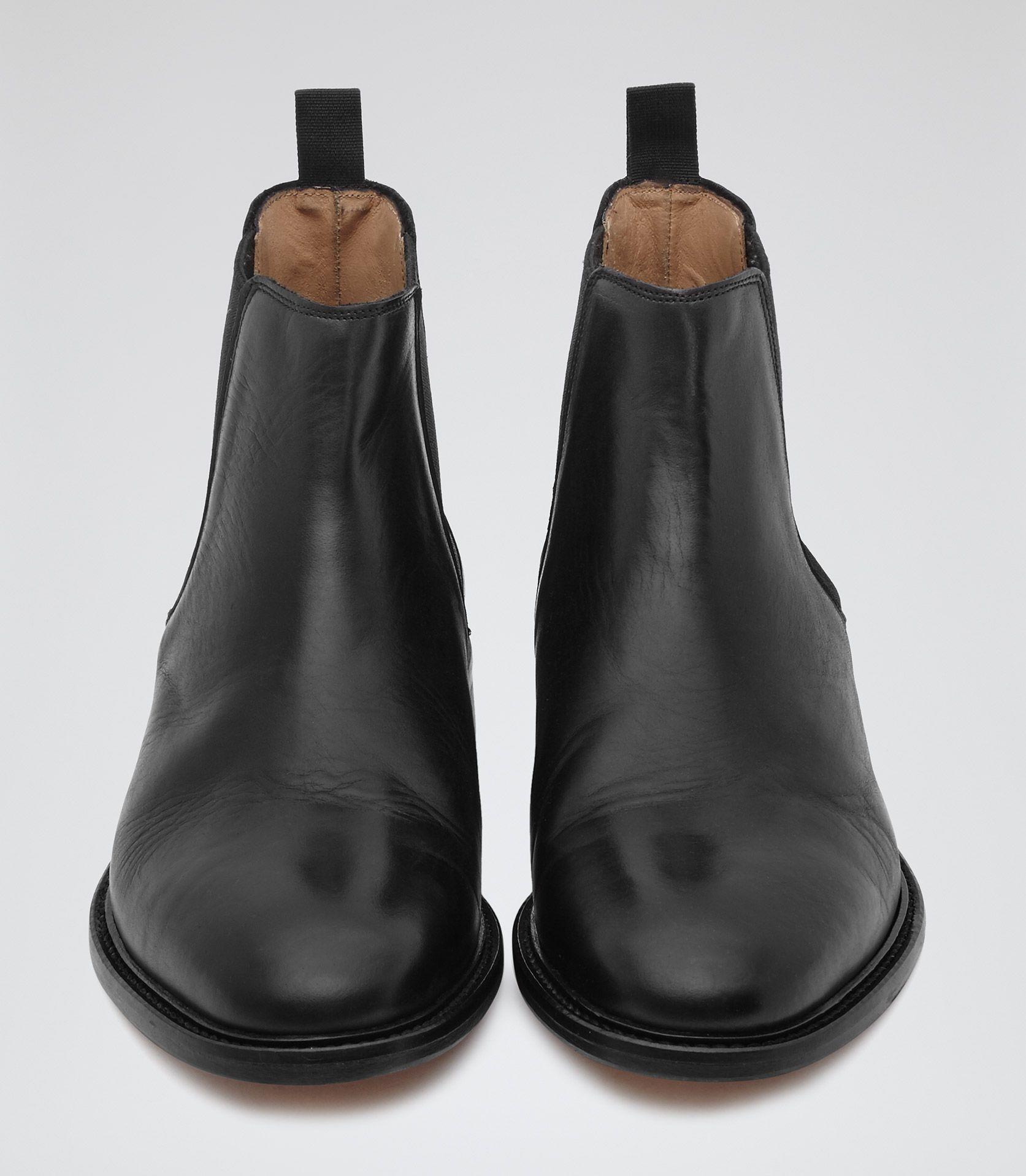 Reiss Tenor Suede - Suede Chelsea Boots in Dark Brown, Mens