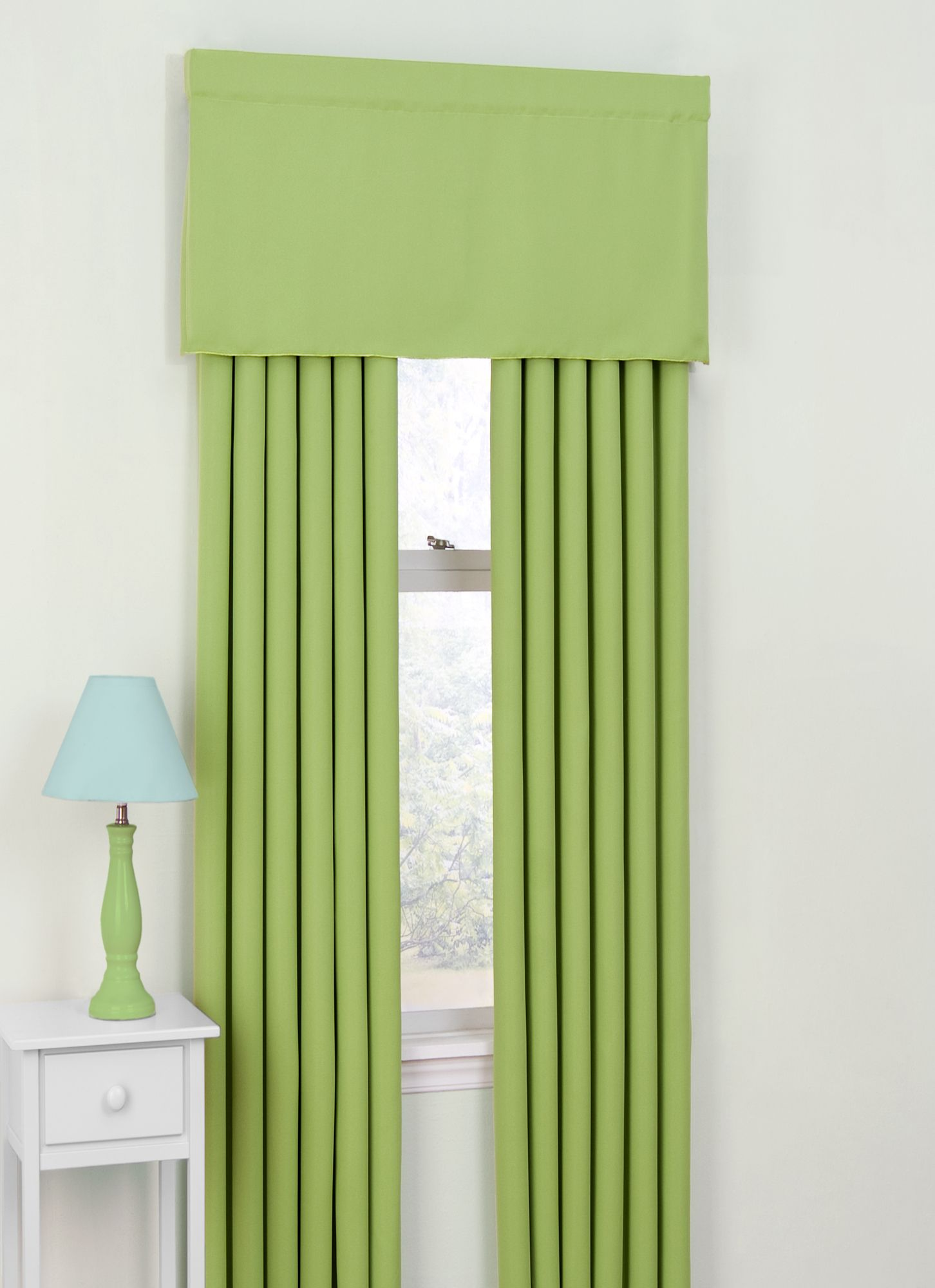 Eclipse Curtains Twill Kids Blackout Drapes And Valance Set In Lime Leah 39 S Room Ideas