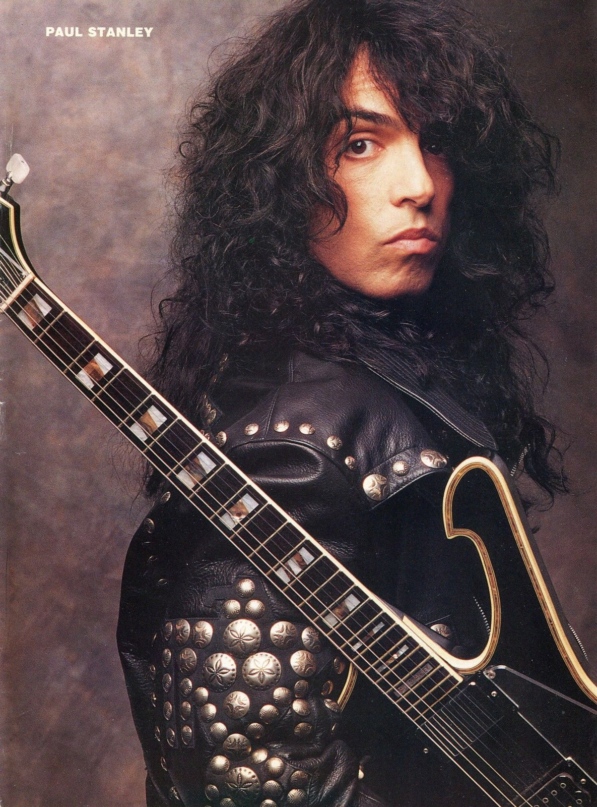 Paul Stanley Pinup clipping 90 039 s Guitar Kiss | eBay ...