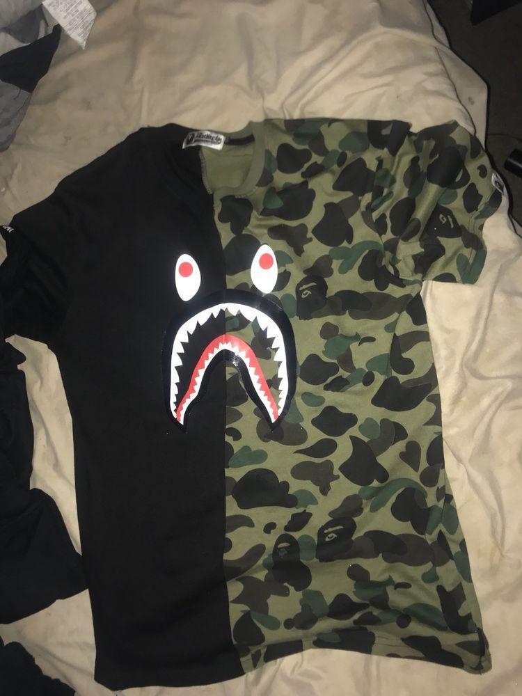 a7b49332cf97 New MEN s T-shirt BAPE Camo College Shark tee 2 Colors  fashion  clothing   shoes  accessories  mensclothing  shirts (ebay link)