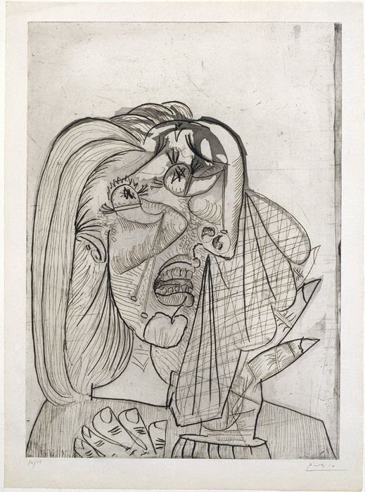 Pablo Picasso Weeping Woman 1937 Etching Aquatint And Drypoint