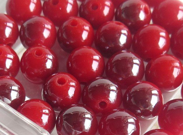 Perle - 10 Perle varigate rosso 10 mm - un prodotto unico di GIULI2 su DaWanda