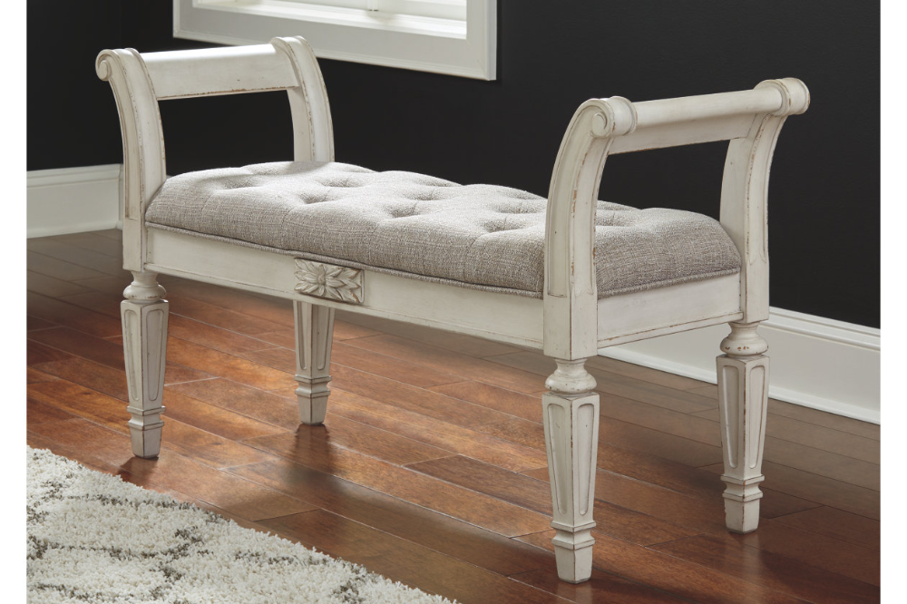 Realyn Accent Bench Ashley Furniture Homestore Accent Bench Furniture Upholstered Bench