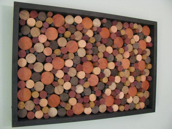 "Circle Wall Art wood art - ""wooden circles"" wood wall art, wooden wall art, unique"