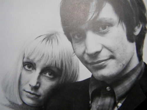 Rolling Stones Drummer Charlie Watts & his wife Shirley.
