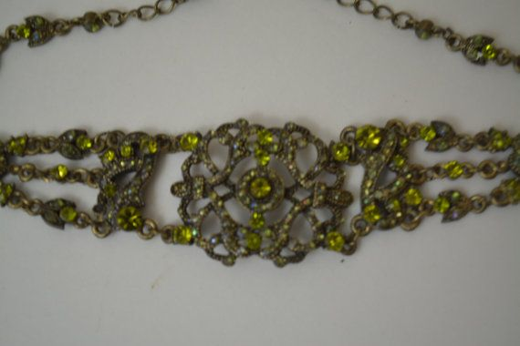 Vintage Peridot Intricately Detailed by Vintassentials on Etsy, $40.00