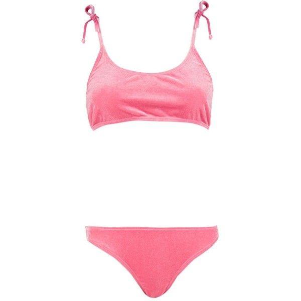 a8a1916069ca4 Boohoo Boutique Bali Velvet Bikini ( 13) ❤ liked on Polyvore featuring  swimwear