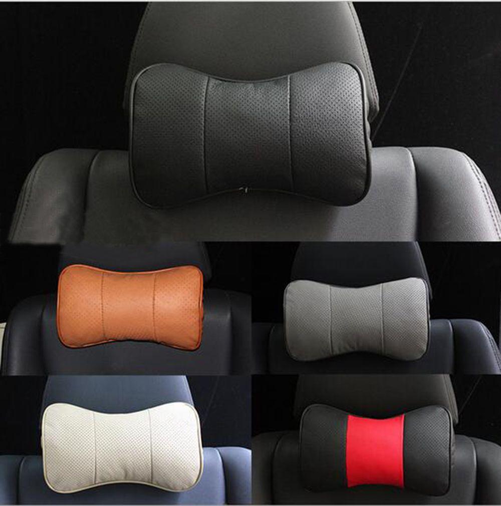 Genuine leather car headrest pillow neck rest pillow seat cushion