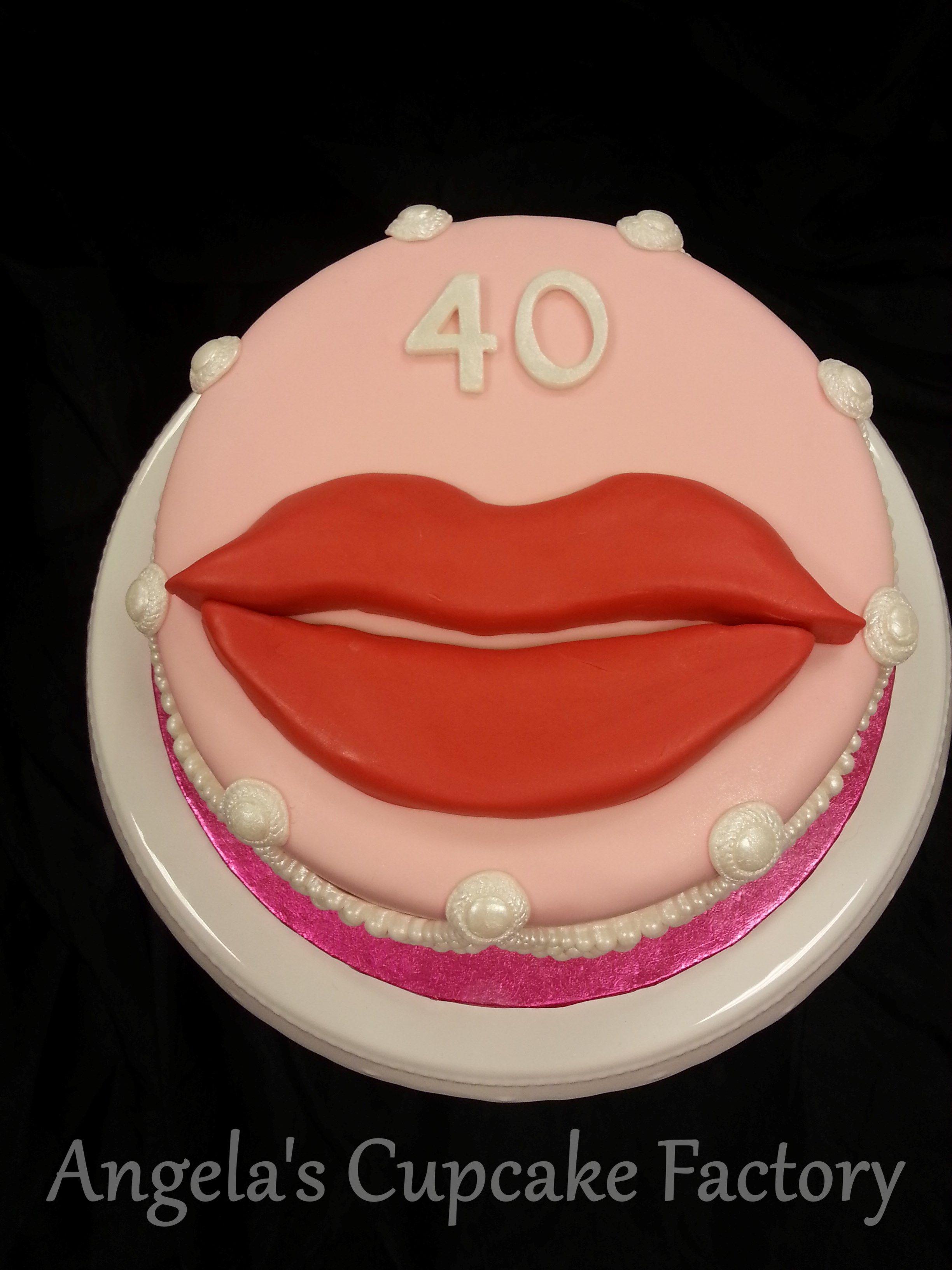 Birthday Cake Lips Verjaardagstaart Met Een Mond Topper