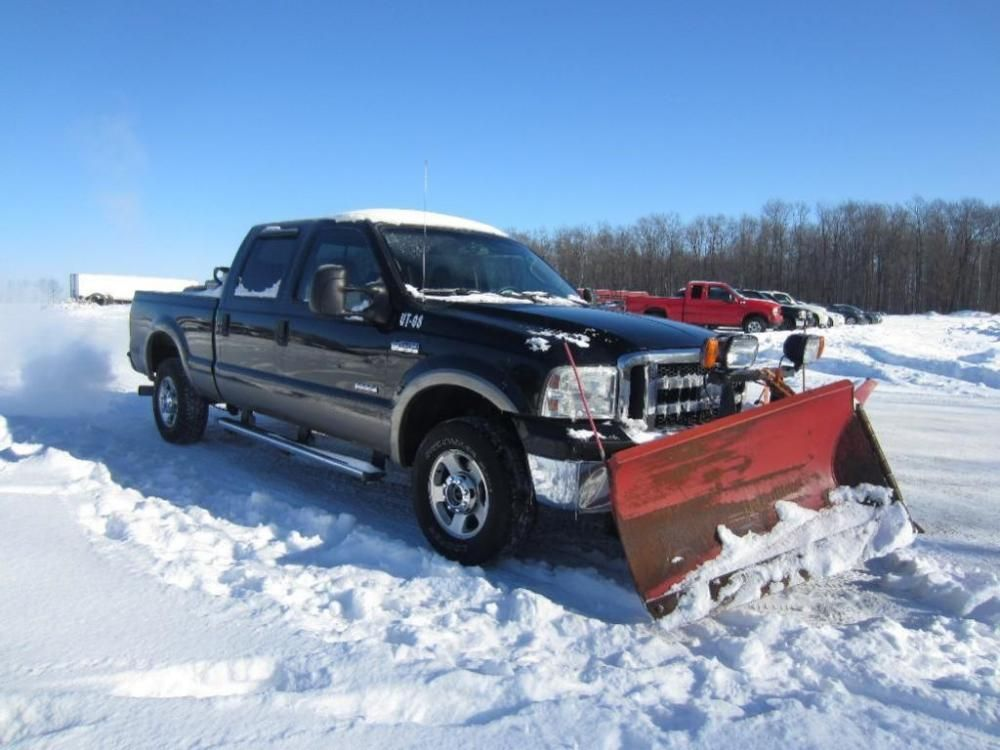2005 Ford F250 Pickup Truck With The Boss 8 2 Power V Snow Plow Online Only Auction Ending Monday January 19 2015 Snow Plow Ford Pickup Plow Truck