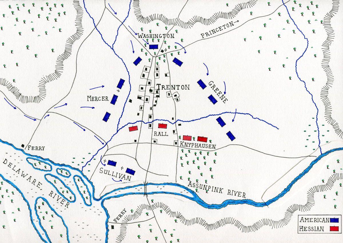 Battle of Trenton battle of trentonw crossing Pinterest