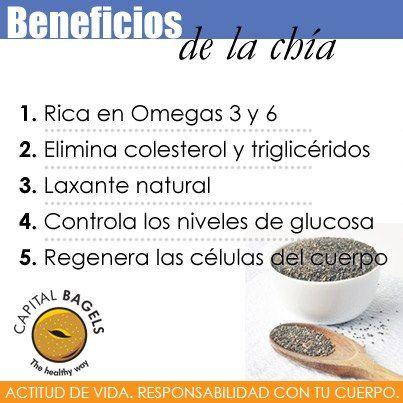 La chía es laxante natural, además elimina colesterol y trigilcéridos. #BeHealthy